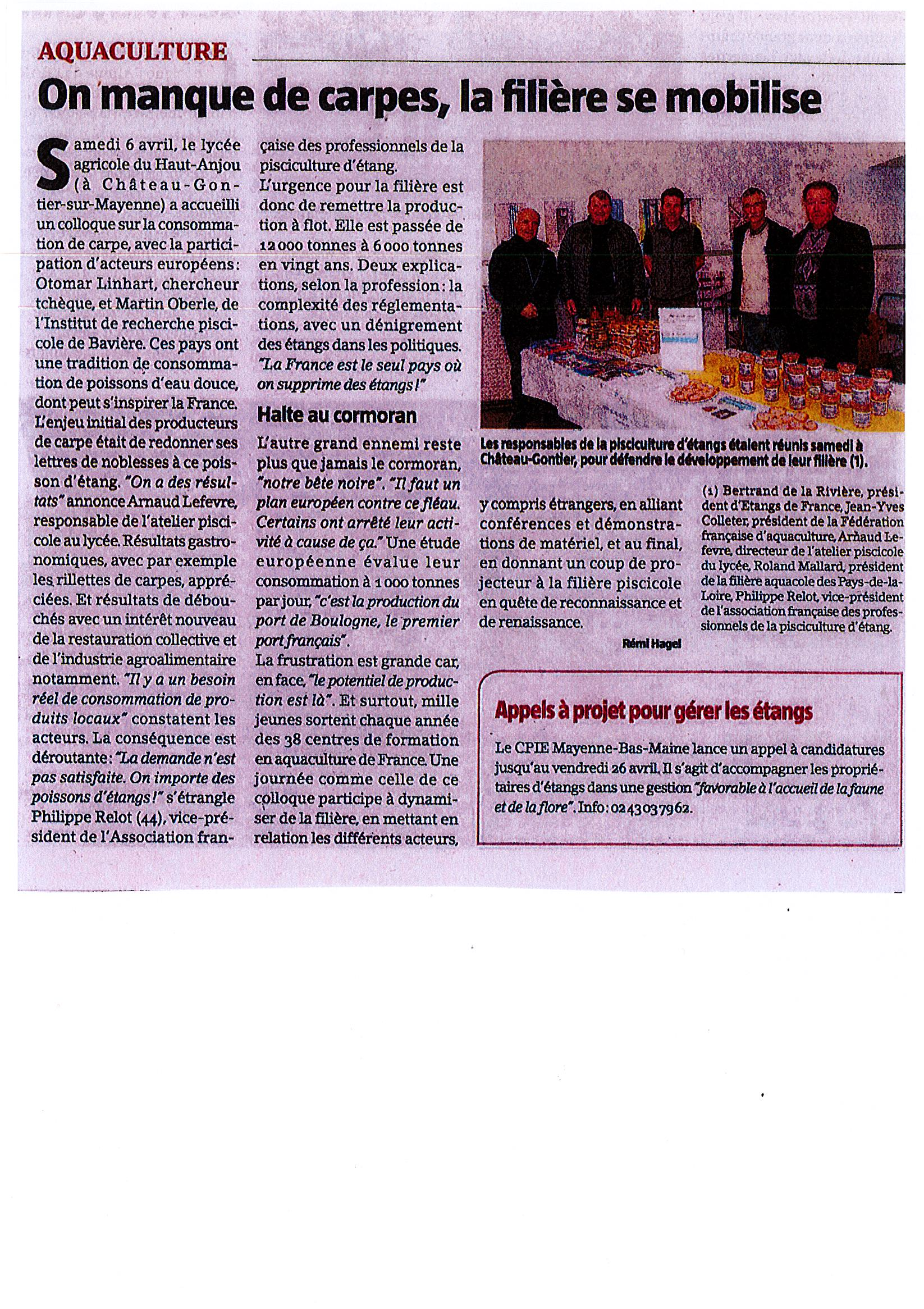 consommation de la carpe en France et en Europe