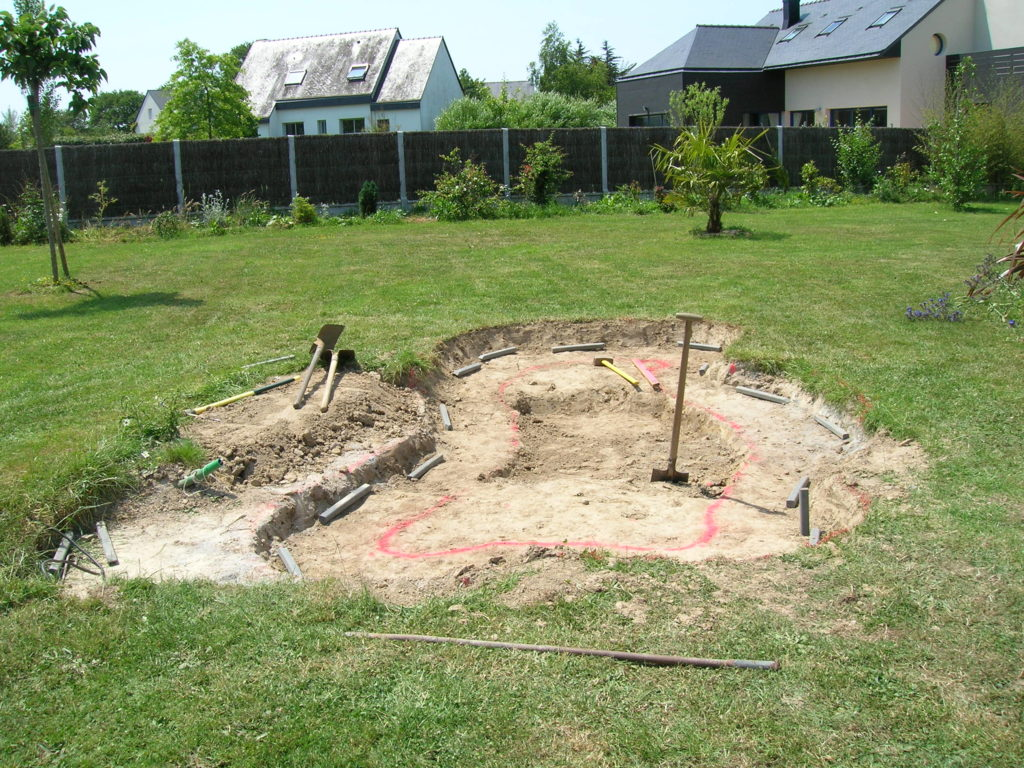 construction d' un bassin de jardin