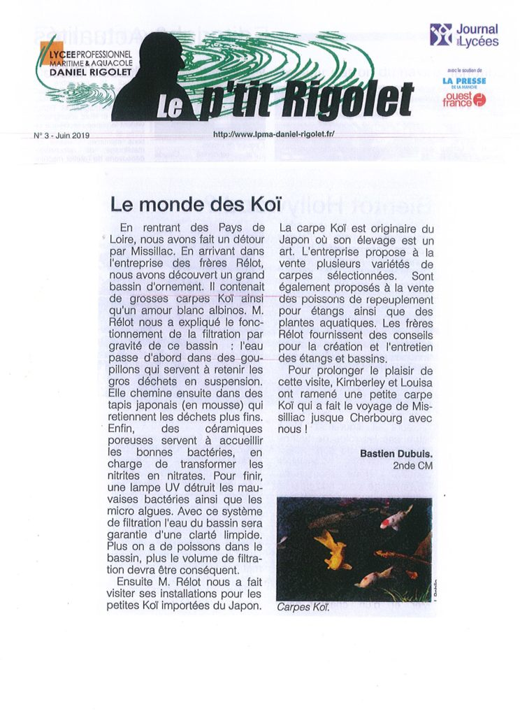 lycée aquacole Rigodet