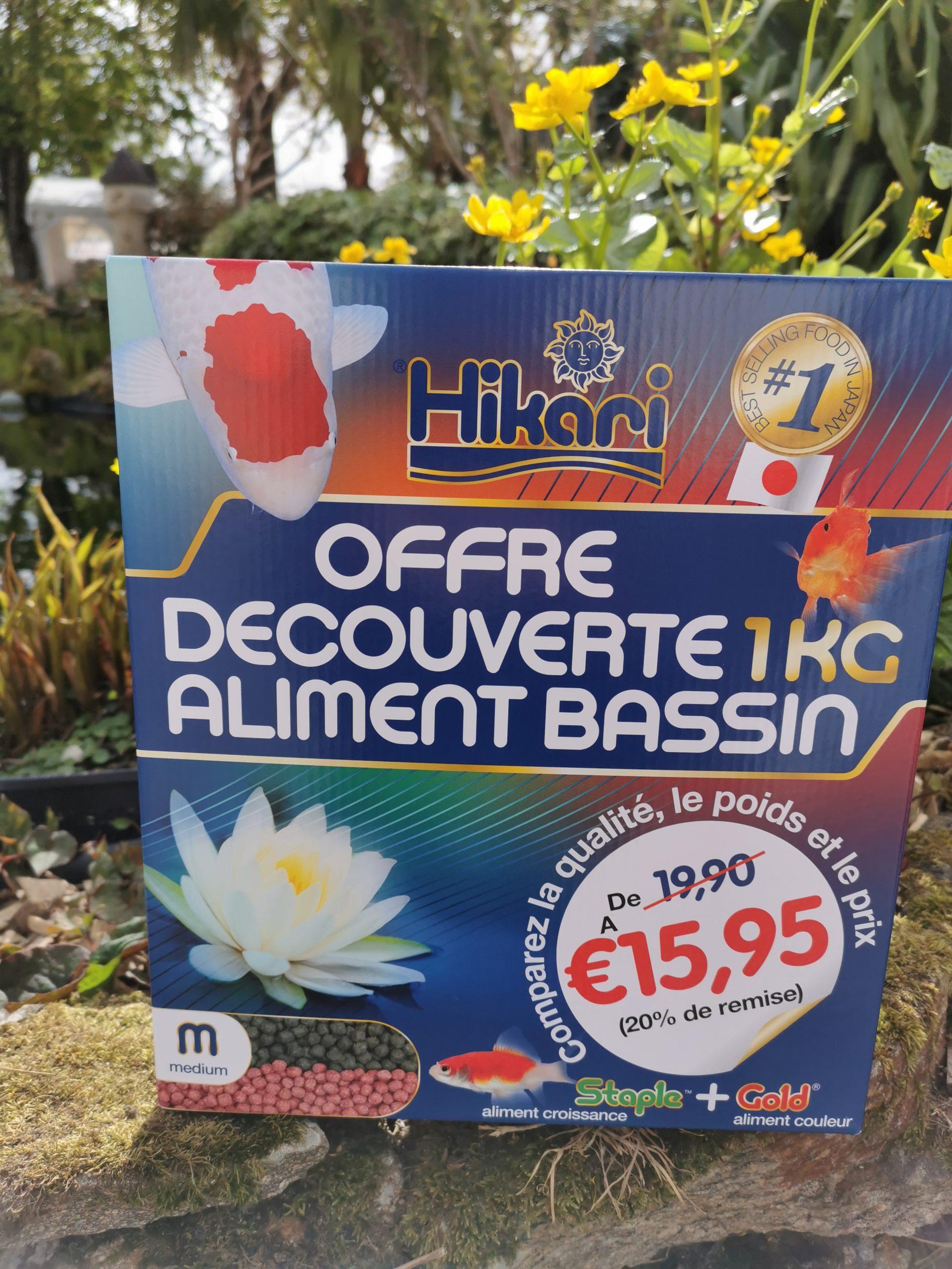 OFFRE DÉCOUVERTE ALIMENT DE BASSIN